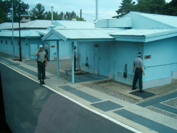 ROK soldiers keeping us safe during our visit...