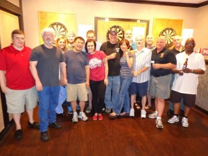 Puddlin' Duck was sold and our Wednesday night bar home is now called Kwagga.  We've added some new faces and we are working hard to bring competitive darts back to Columbia big time!