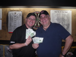 Chris Werner and I walked away with some well deserved cash at the Supercricket tourney at Dolce Vita Pub