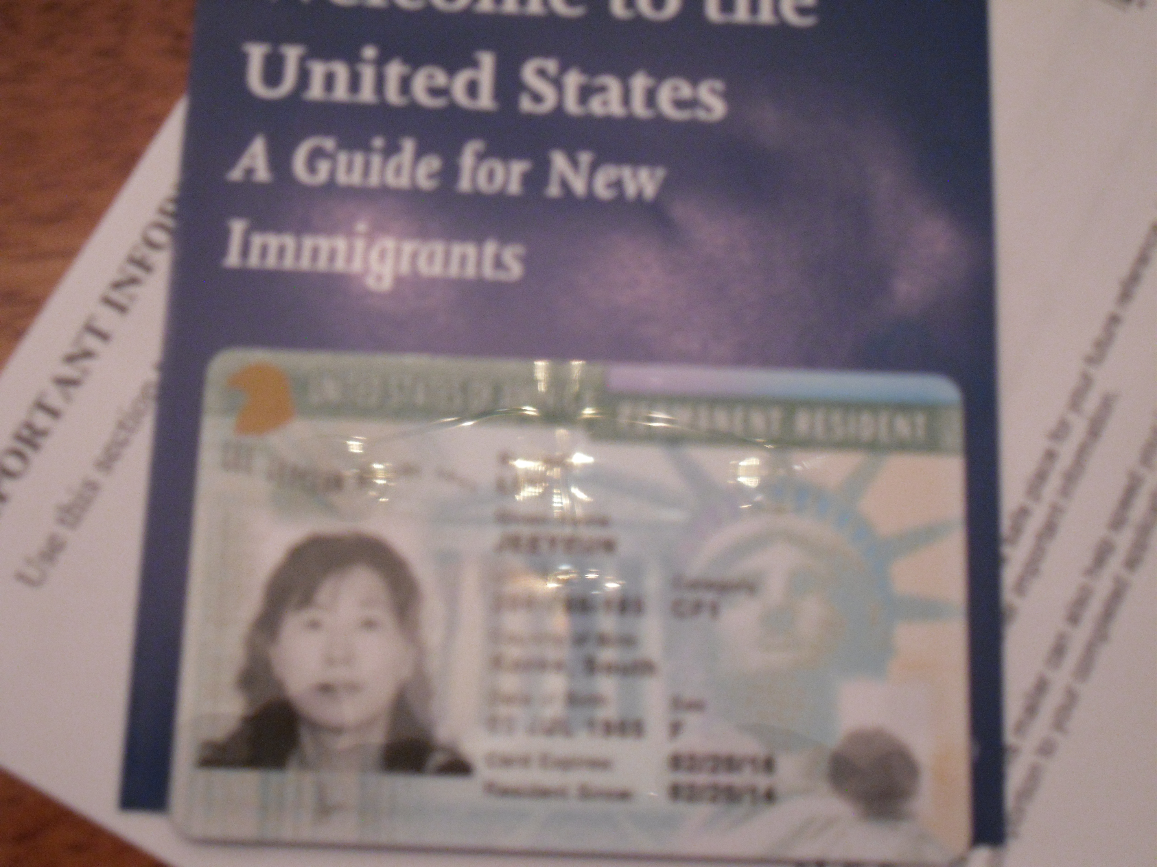 Permanent Resident Card Number Back Long awaited green card