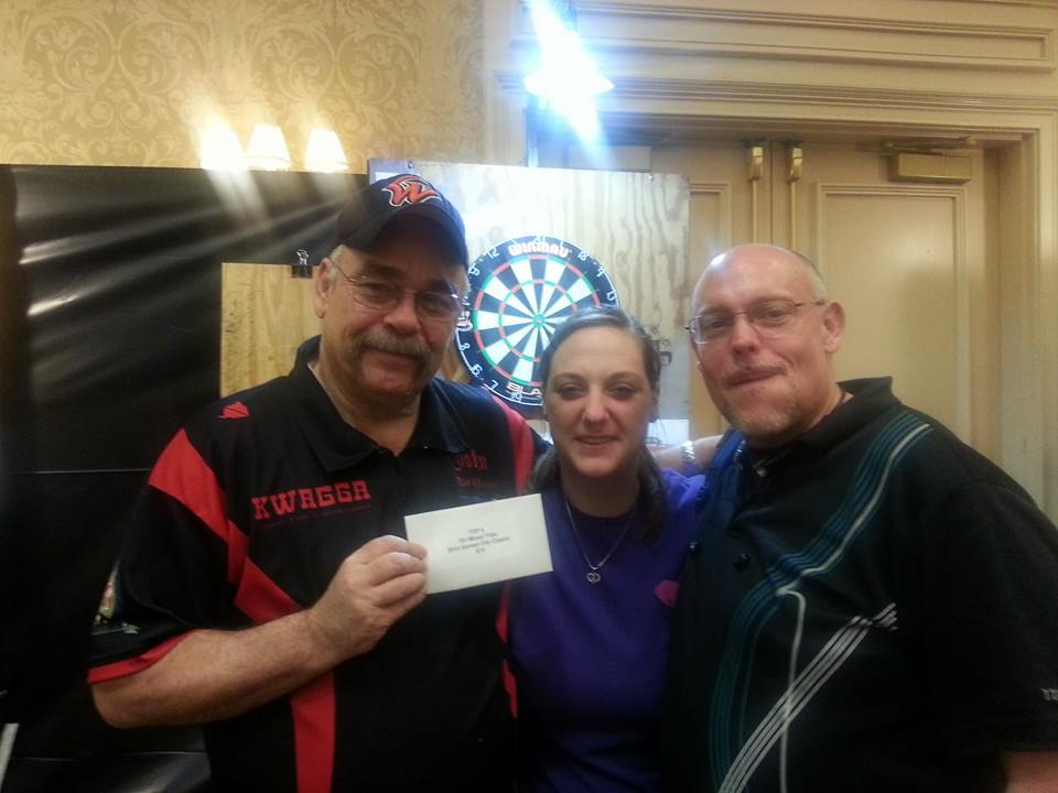 Saturday night saw a thrilling top 4 finish in mixed triples.  It was the first time I played that particular event and kudos go out to my partners Megan Hoover and J.R. Heffington for a great night of darts!