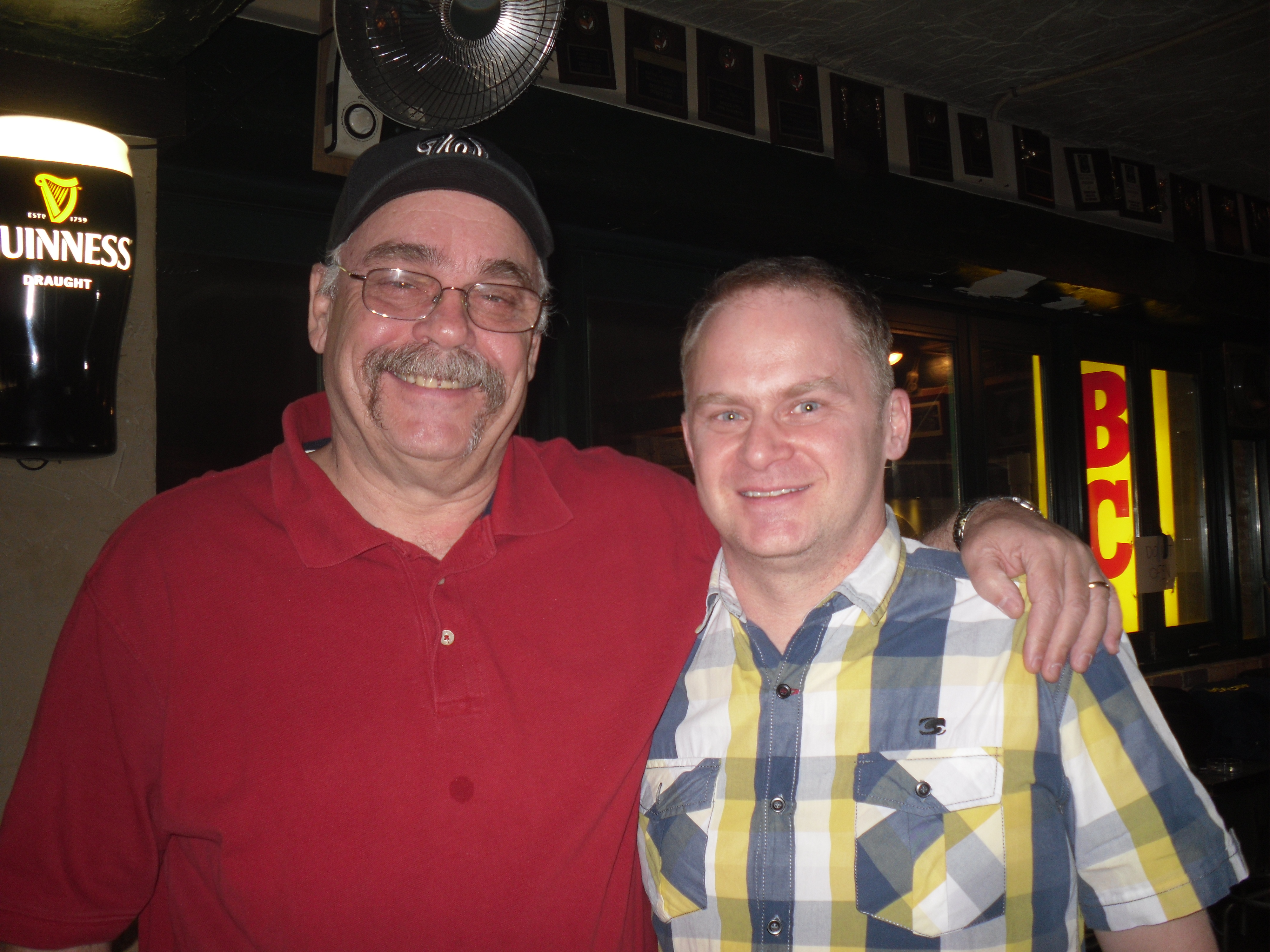 "The highlight of the night was connecting with my old Canadian friend Craig ""the Goat"".  He left Korea a year or so before I retired, and moved back here last spring.  It was his birthday Friday and as fate would have it we drew up as partners in the tourney.  Now maybe if I'd had my own darts or maybe had I stayed slightly more sober, we'd have done better than second place.  Still, it was a great time!"