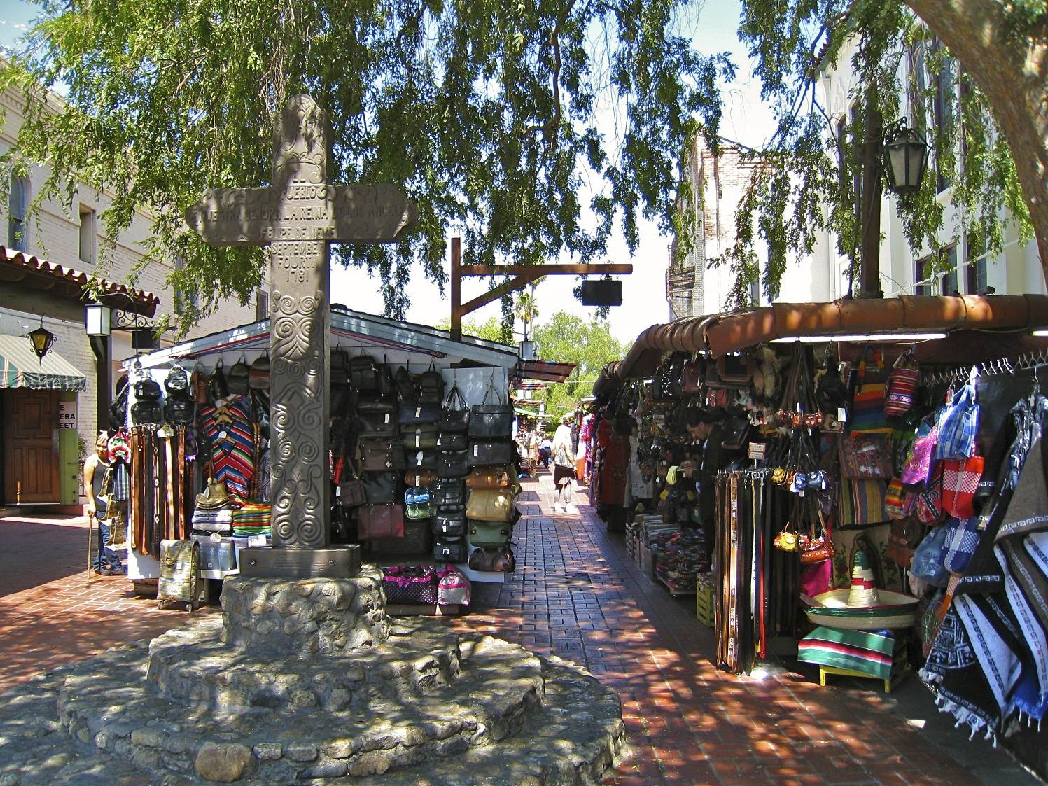 Olvera Street is the oldest street in LA.  I have memories of visiting here with the parents as a child and years later taking a gal who attended USC  I was dating here for authentic Mexican food...
