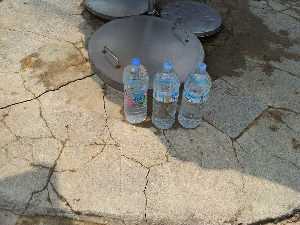 ...and filled up the water bottles with fresh spring water (at least I hope it's fresh!)