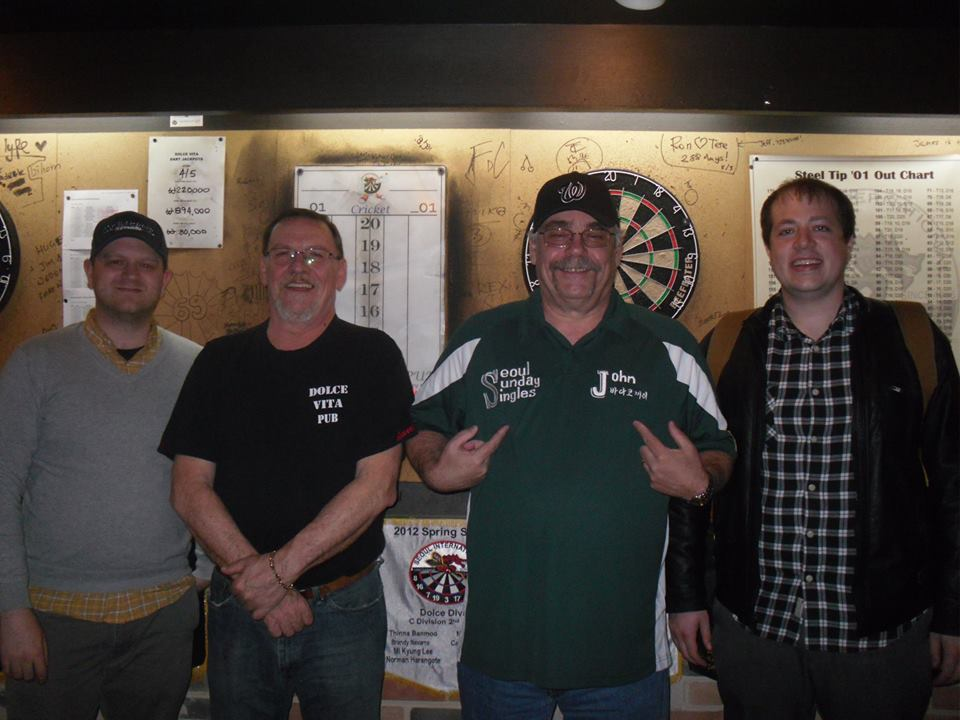 I've also founded a dart league--The Seoul Sunday Singles League--which began play this past Sunday...