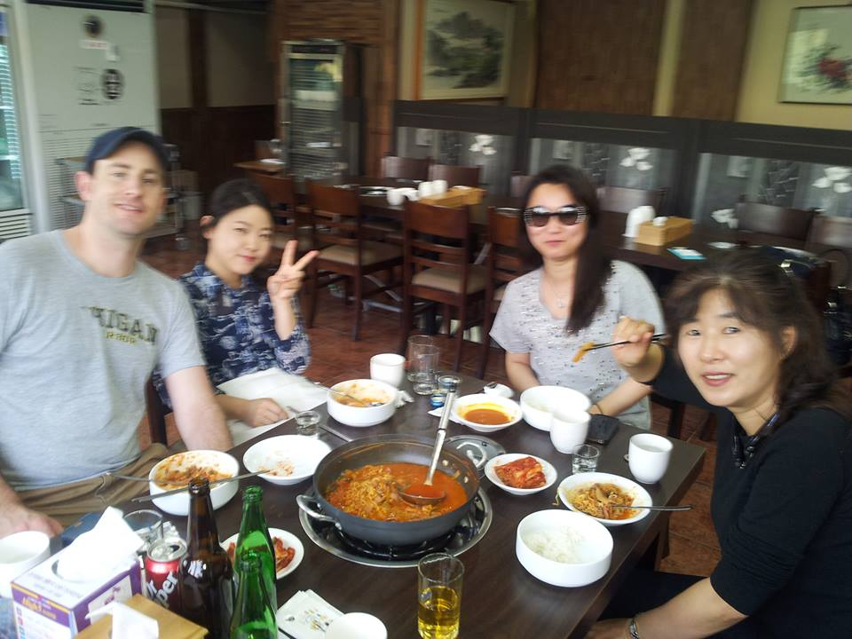 "...and so our group of fellow travelers commenced to satiate that hunger.  ""Movie Star Midori"" insisted that we drink and eat, so we did that too..."
