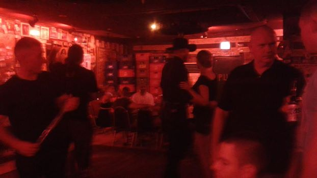 The guy in the cowboy hat was doing the Texas two-step and making the girls smile.  There was a time when I fancied myself a pretty fair country dancer, but alas I was without a partner last night.