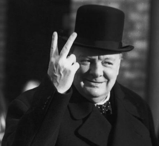 Winston Churchill famously telling Hitler to fuck off...