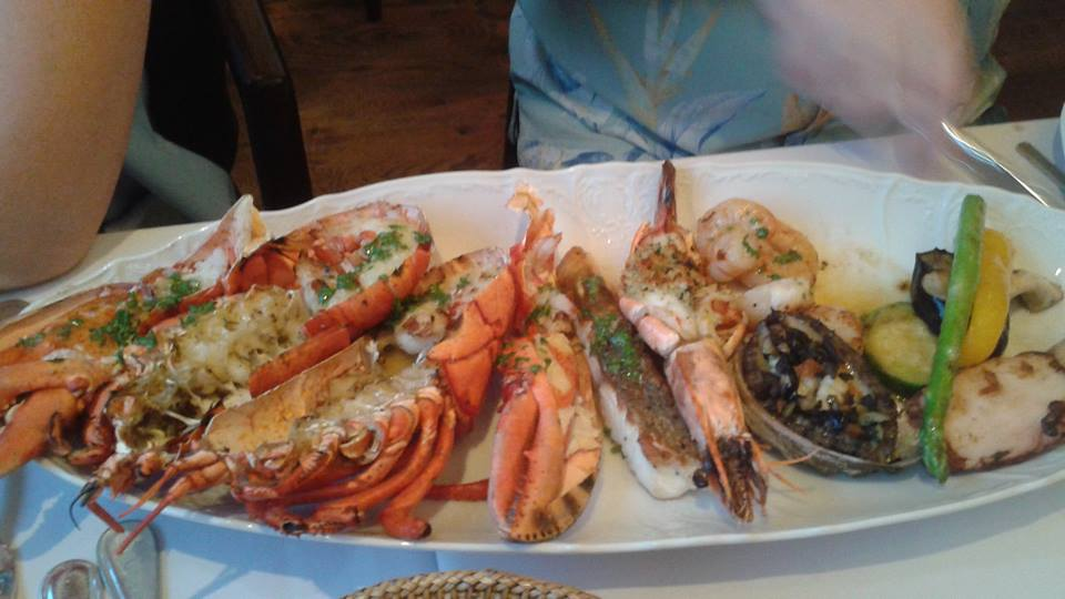 Dennis and Julie shared the seafood platter for two at $120.  It was also outstanding.