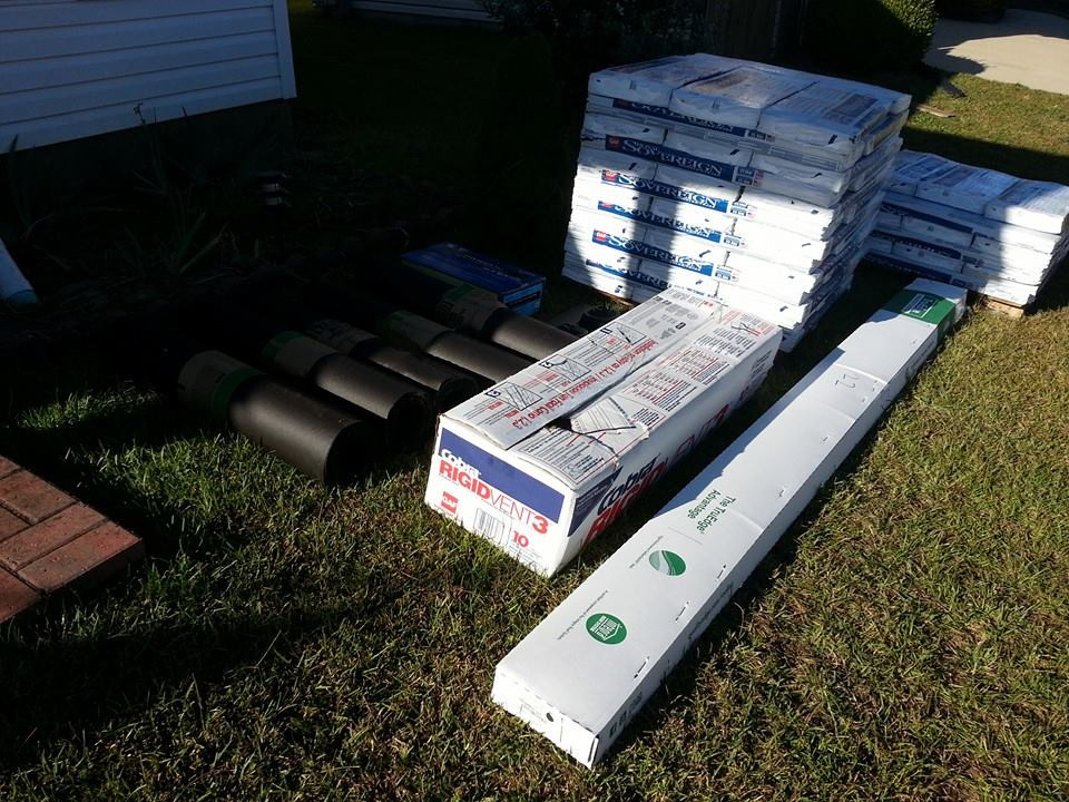 So this stuff showed up in my yard yesterday.  I wondered if I should have specified that I wanted the new roof installed?