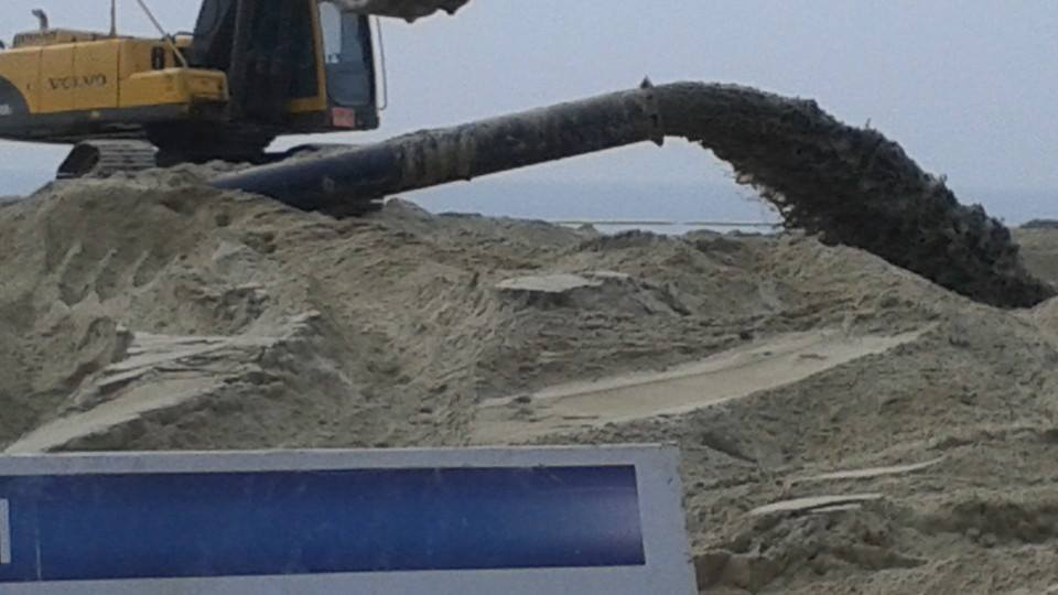 The beach at Haeundae is  undergoing a revitalization project.  I don't know why, but I found the construction work strangely pornographic...