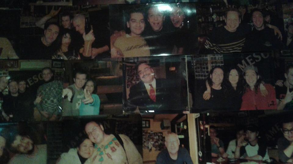 This photo of me on the Debut Wall of Shame Fame circa 2006 is still there.  The person I was back then has moved on.