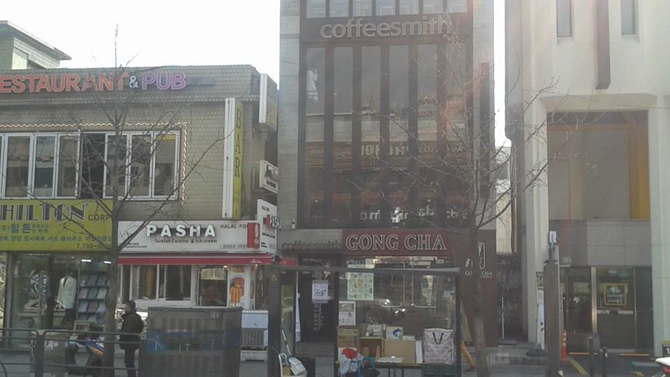 To the second coffeesmith in Itaewon.  Up until a couple of months ago, this was a Starbucks...
