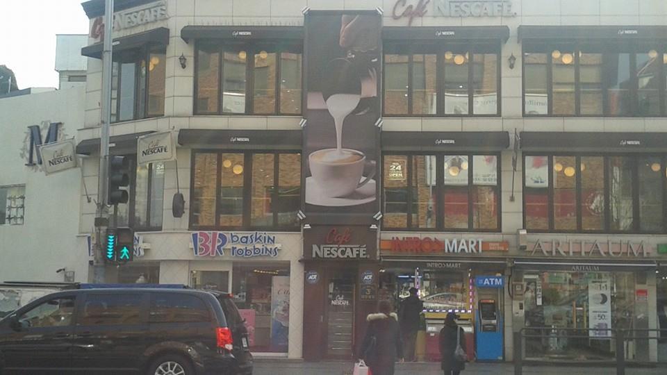 A Nescafe cafe.  Not to be redundant...