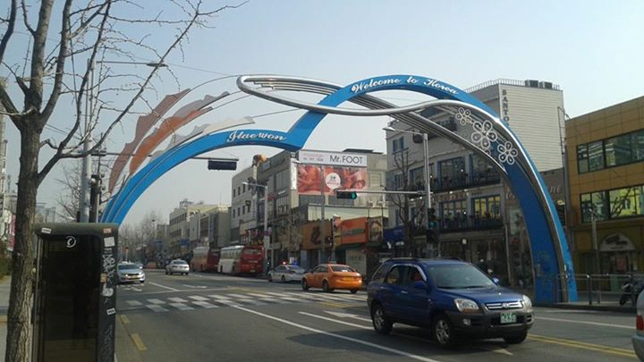 "The world famous ""arch of Itaewon"".  Suck it St. Louis!"