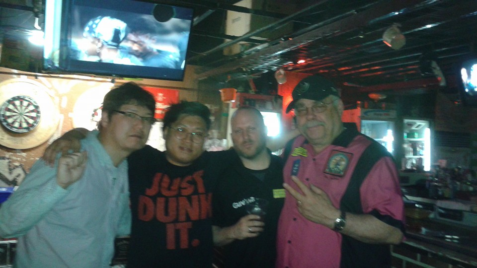 "Did you hear about the time a Japanese, a Korean, a Canadian, and an American walked into a bar?  The called themselves ""Dartitis Quarantine"" and proceeded to kick some Friend Bar butt."