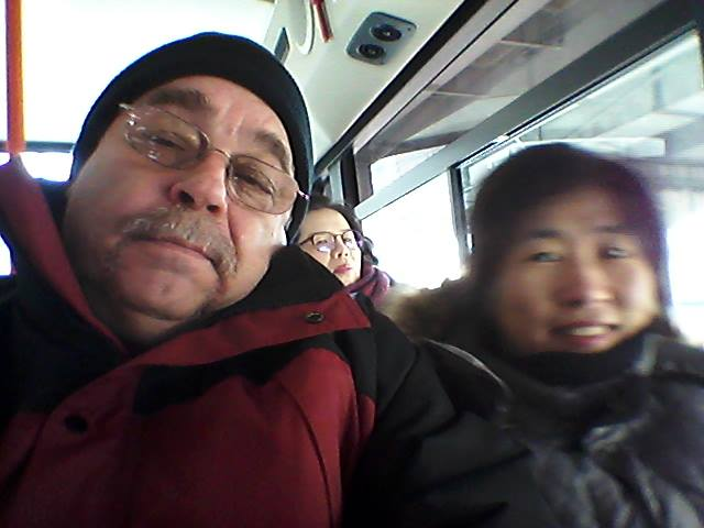 Since Jee Yeun had to go to Soonchunhwang hospital for blood work, we took the 110A bus together.  That Korean woman seated behind us did a nice little photo bomb, intentional or not.