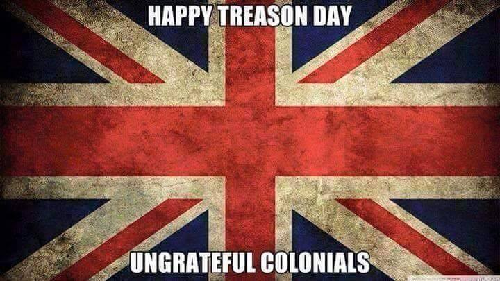 My Brit friends were very gracious in their Independence Day comments.  Turns out, they even have a July 4 in the UK.  Who knew?