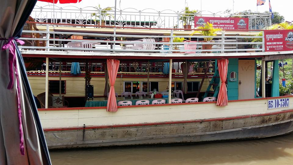 A Mekong River cruiser...