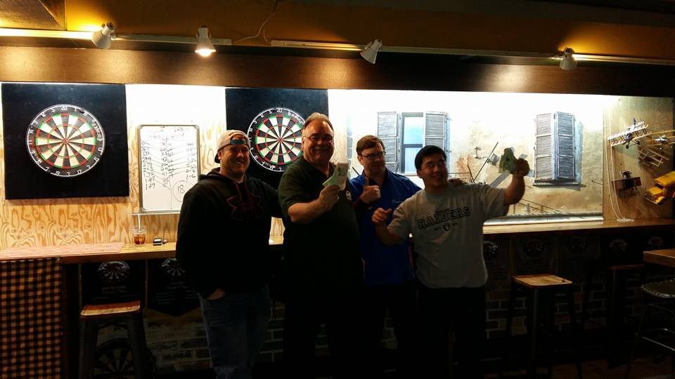 My partner and I took home first place money at the SIDL monthly dart tourney last night...