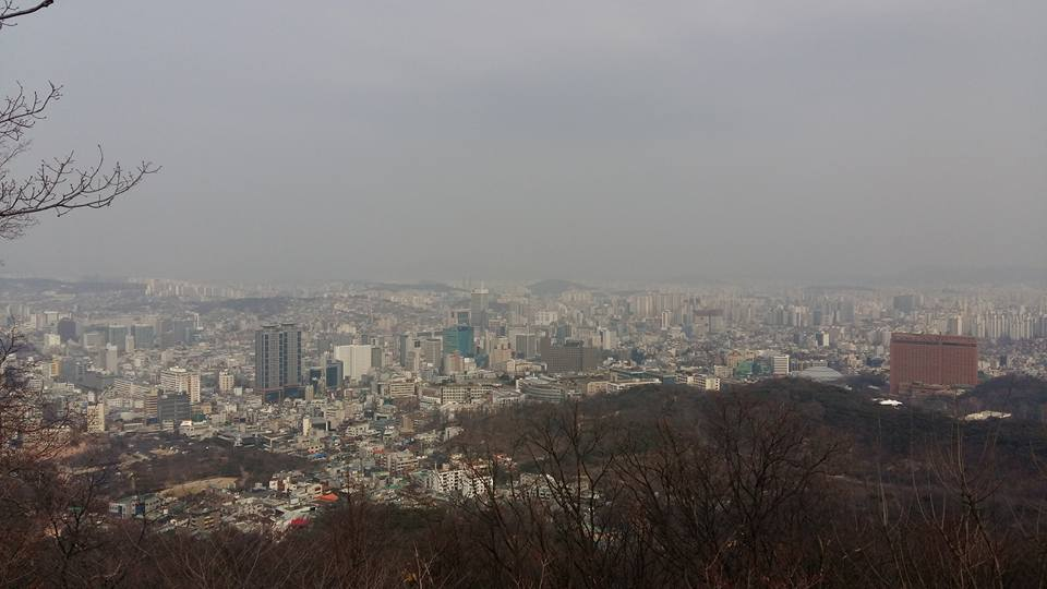 Not a particularly clear day, but Seoul is still awesome...