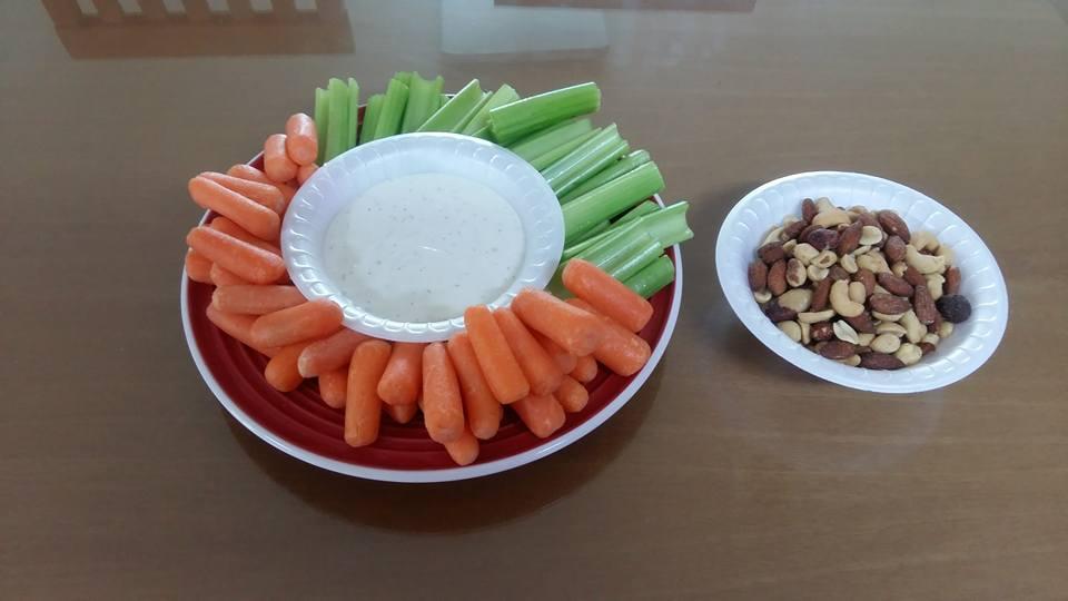 Veggies ready to eat...
