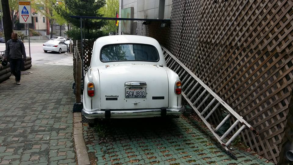 That's a 1950s vintage (just like me!) Ambassador if I'm not mistaken...