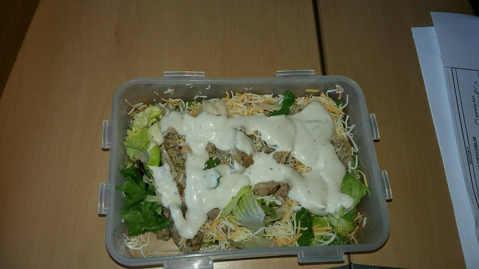 This tasty salad with chicken breast pieces and low carb ranch dressing.  That's as sweet as it gets for me these days.  Well, except for Sunday nights when I reward myself with a fruit smoothie..