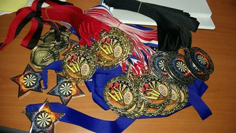 There'll be medals for special achievements (180, 9 mark, high-in and high-out)...