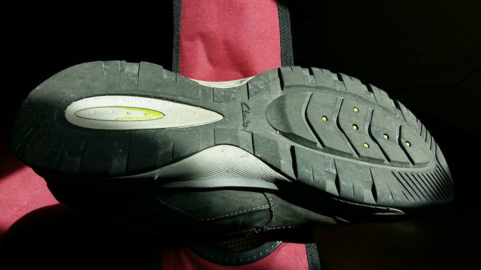 I was wearing my everyday shoes which purported have a sole suitable for comfortable street walking...