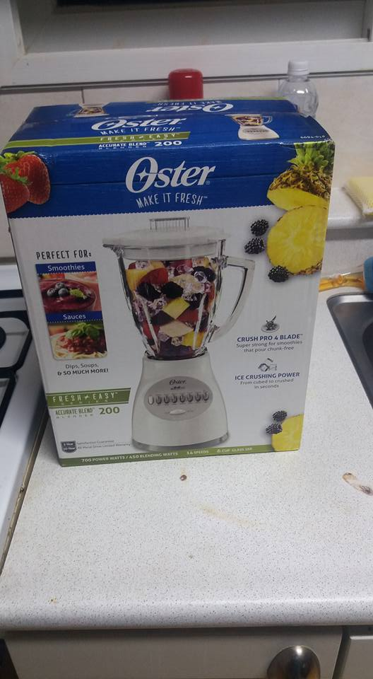 Yep, a new blender...