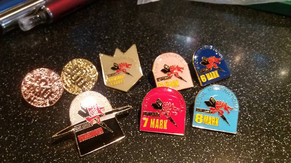 When it was time to pass out achievement pins my bag contained these...