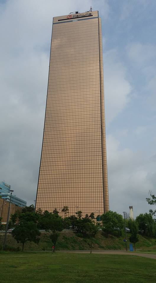 I didn't take time to count, but I'm told there are 63 floors in the 63 building...