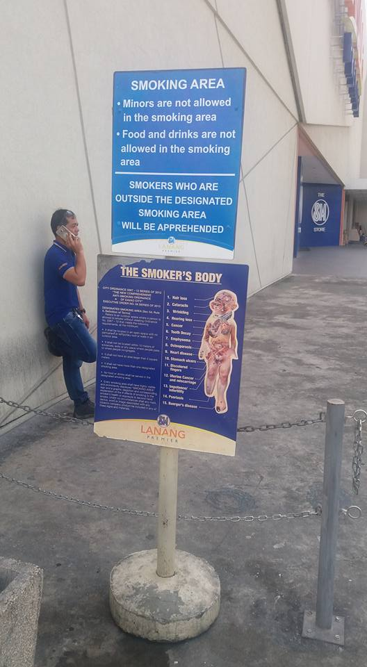 ;;;here. What a pain in the ass. I've since learned that Davao City's smoking ordinance does in fact specifically include vaping. Bastards!