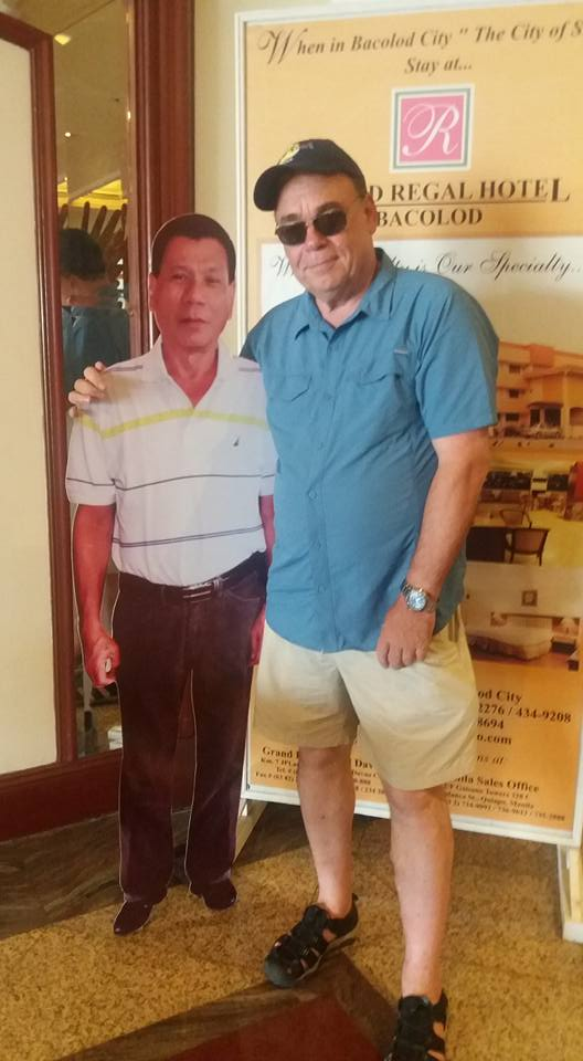 President-elect Duterte was there to greet me when I checked in this morning...