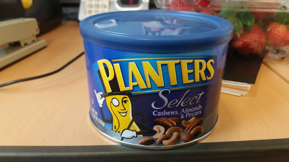 I'd also forgot to pick up a can of nuts. My favorite afternoon snack...