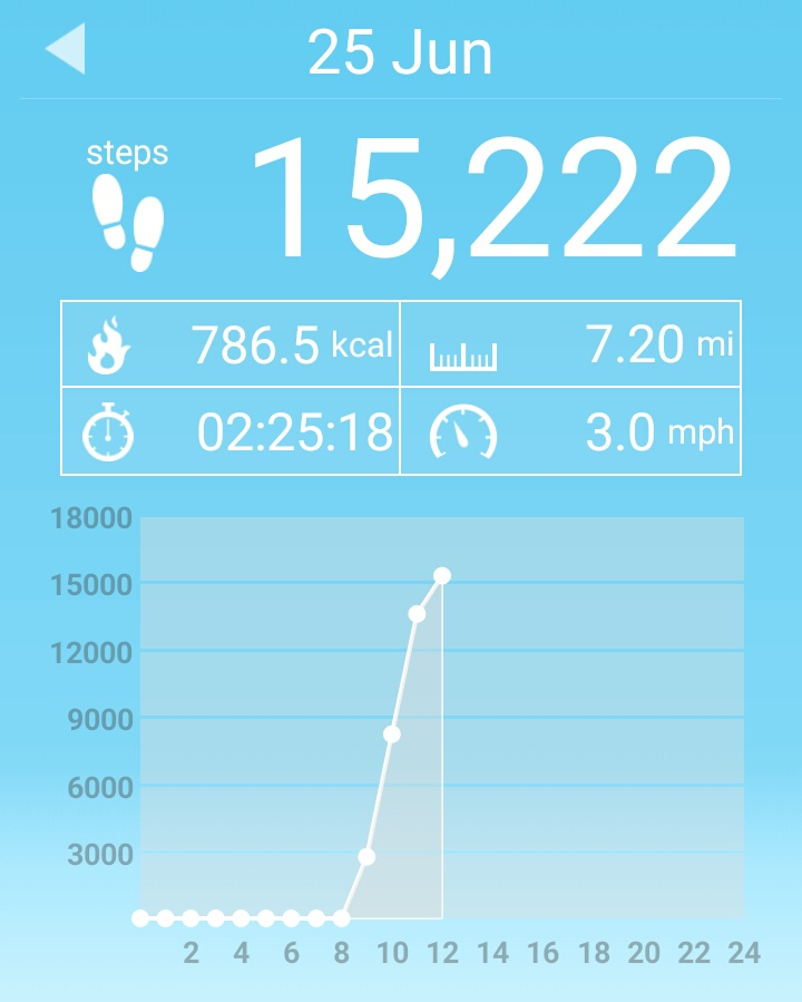 Not a bad mornings work considering I didn't have the proper footwear and my heel was screaming with every step...