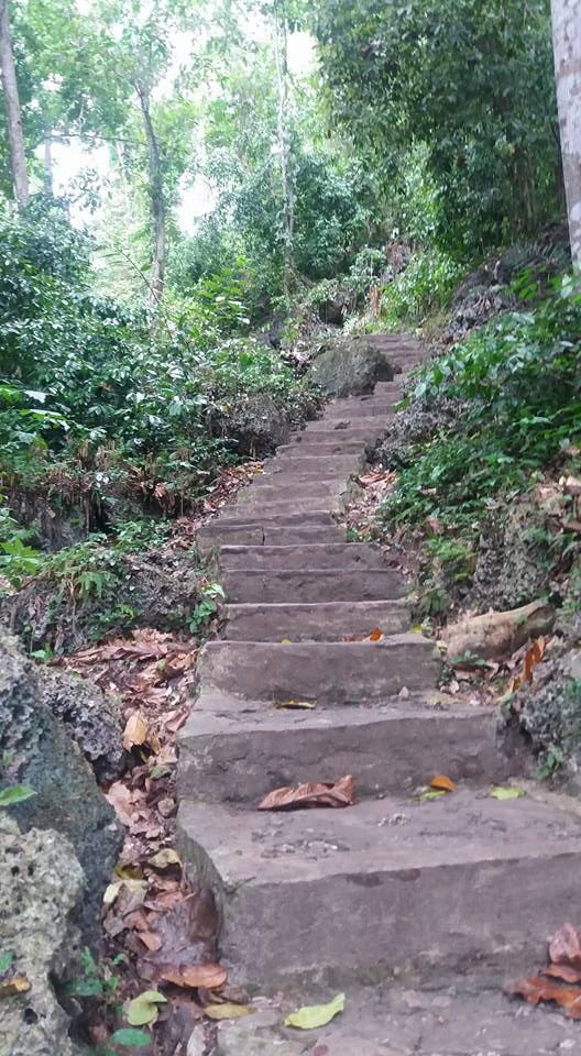 Climbed these steps to the waterfall. Not as many as Namsam, but a fair hike...
