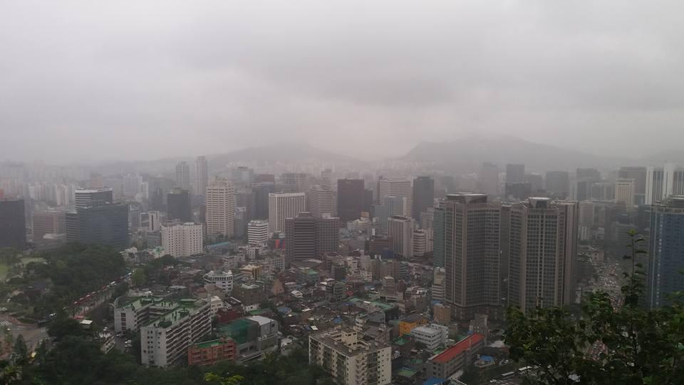 The city below me.