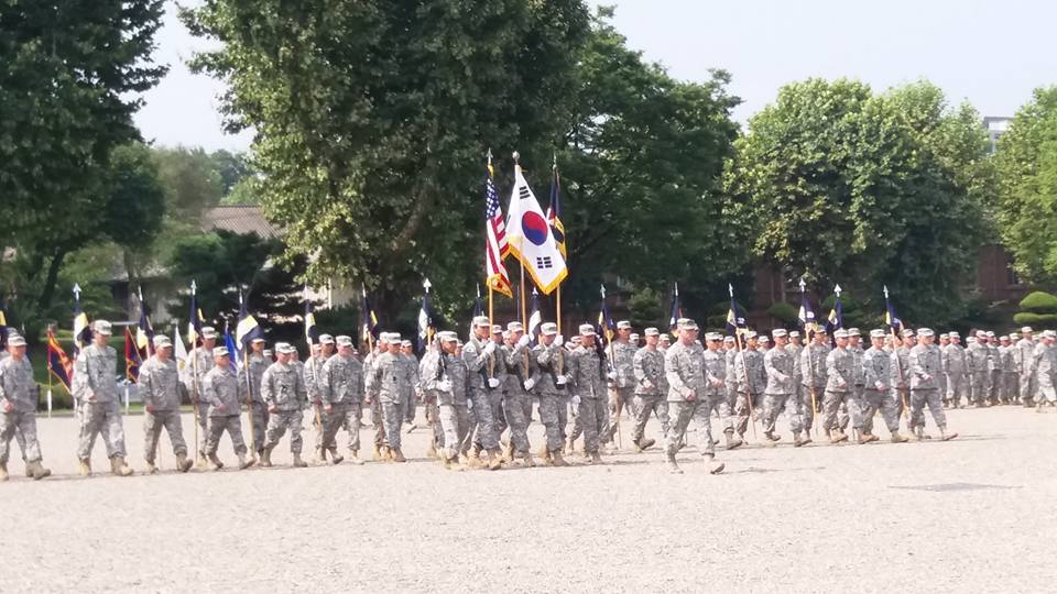 Attended the Change of Command ceremony for the Korean Service Corps commander...
