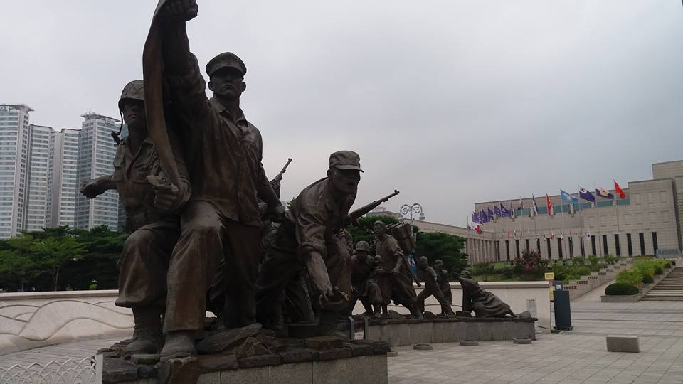 ...and paused to reflect on the anniversary of the armistice as I passed by the Korean War museum.