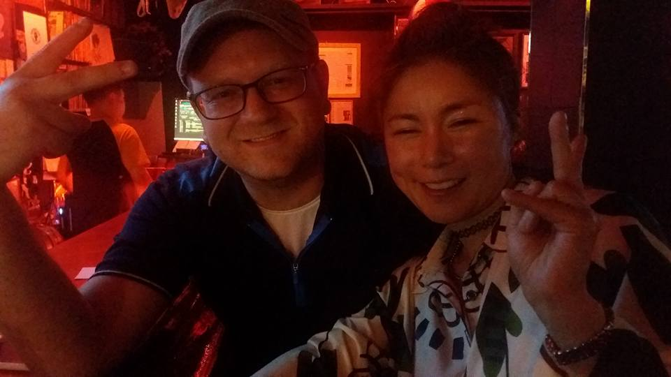 Saturday night it was back in Itaewon. Had some samgyapsal with the nephew and girlfriend then went to East and West, the rock and roll bar above Grand Ole Opry.