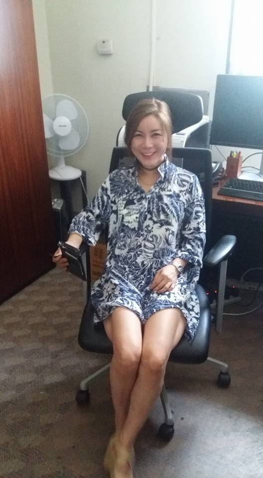Had to go on base to be fitted for a new suit I'm having made (I guess that makes it a birthday suit!). Eun Oke joined me on base and I took her to see my office. I must admit she looks better in the Director's chair than I do...