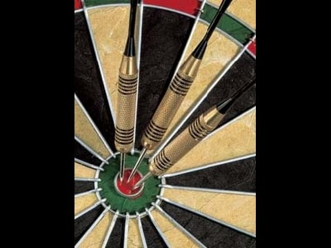 Yes, for the first time in my darting career I managed to pound 3 double bulls in competition. That got me back in the game, but I was still down. On my next throw I hit 3 single bulls, which put me up on points. Then I hit a 6 mark to close out two of my open numbers, setting me up for an unexpected comeback win. (the photo is from Google Images, I'm not gauche enough to stop in the middle of a match to take a photo of my amazingly fantastic dart throw...)