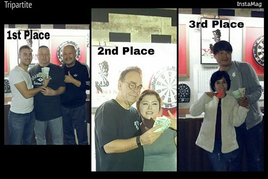 And it proved to be a pretty successful evening at darts for the Seoul contingent.