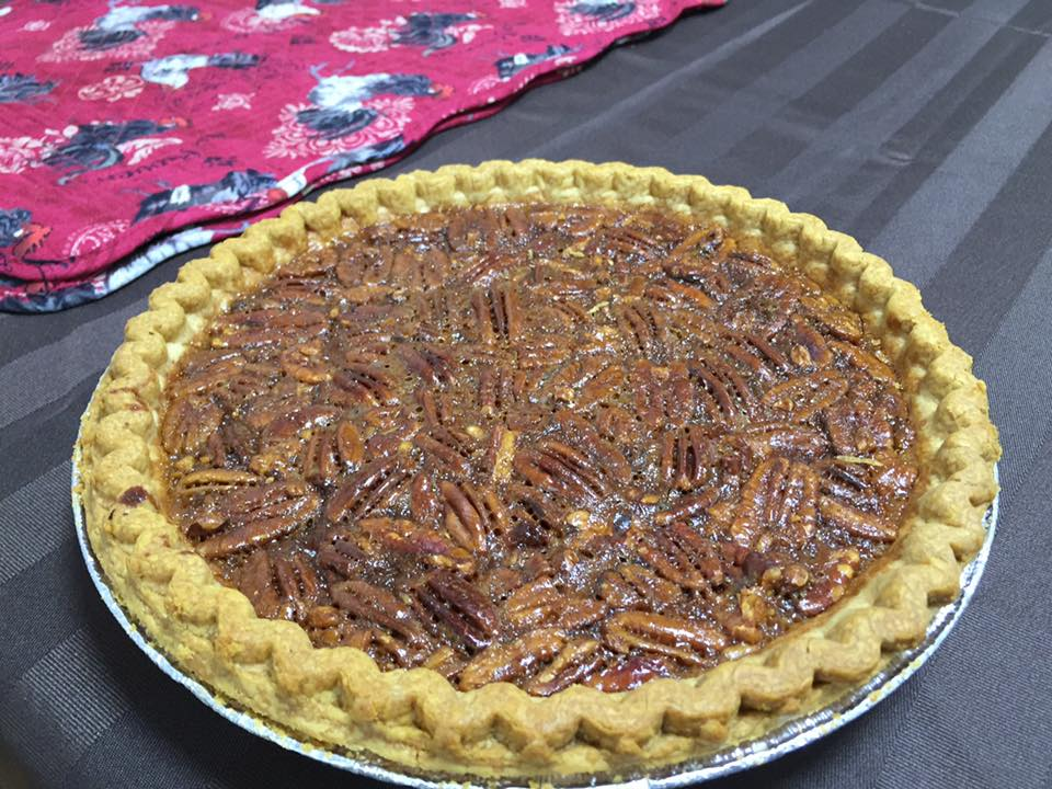 Pecan pie and a pumpkin pie for dessert...